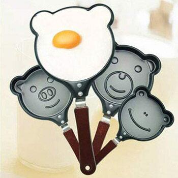 PS Mall╭*動物造型煎蛋鍋(無蓋) 可愛動物造型DIY煎鍋 煎蛋鍋 煎餅鍋 不沾鍋小煎鍋【J842】