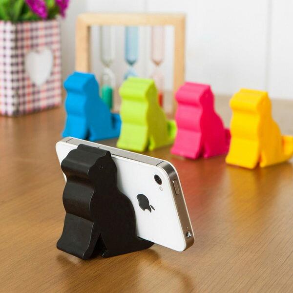 PS Mall 可愛貓咪造型手機支架可愛手機座iphone手機架平板支撐架【J1993】