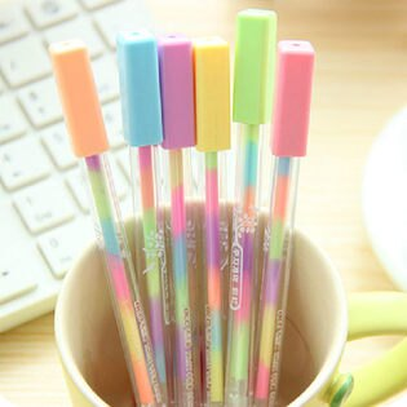 PS Mall 創意炫彩螢光筆 彩虹筆變色 重點筆 畫筆 記號筆 水彩筆【J707】
