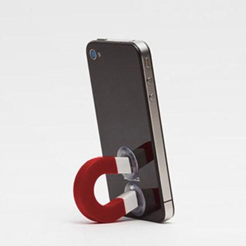 PS Mall╭*多功能隨意吸附萬能哀鳯4S 手機磁鐵造型支架 手機座 【J1154】