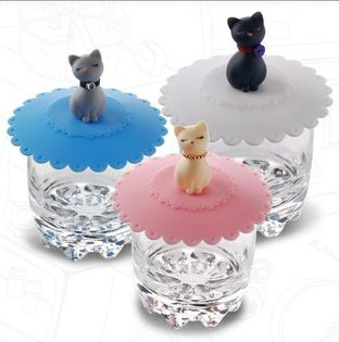 PS Mall╭*優雅俏麗~貓咪造型神奇杯蓋/小貓咪防漏隔熱杯蓋 【J248】