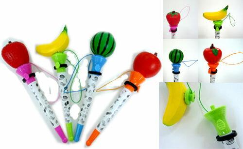 PS Mall╭*可愛小物❤水果 球類 拳頭 彈跳筆 玩具筆 【QQ3】