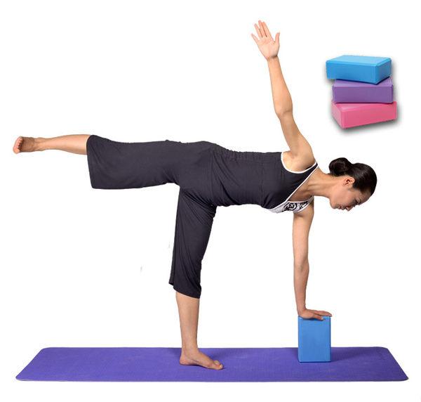 PS Mall 專業健身環保瑜珈磚 另售 啞鈴 瑜珈墊 彈力球 拉力帶 伸展帶【H319】