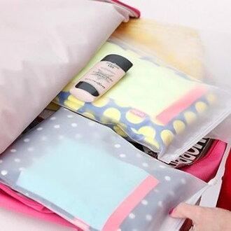 PS Mall 旅行居家必備 磨砂拉邊衣物內衣分隔整理壓縮袋 家庭收納袋 萬用袋 【J134】