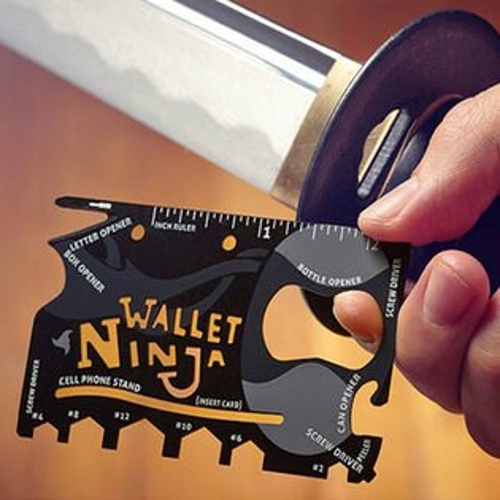 PS Mall 萬用多功能不鏽鋼工具卡 開罐 板手 尺 螺絲起子 鋸齒 刀片等 18合一【J542】