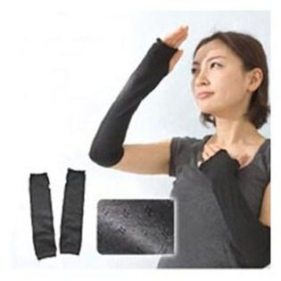 PS Mall 日式防UV長袖套 黑色袖套 防曬袖套【QJ552】