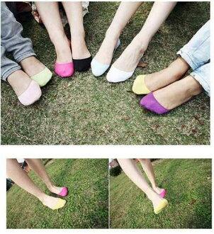 PS Mall╭*熱賣韓國可愛薄款淺口防滑女士夏天隱形蕾絲船襪 隱形襪子【J752】