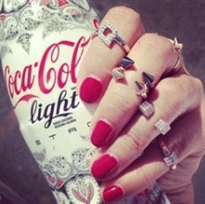 PS Mall╭~美國 街頭風 街拍 小巨人錐形鉚釘鑲鑽戒指 指環~G1401~ ~  好