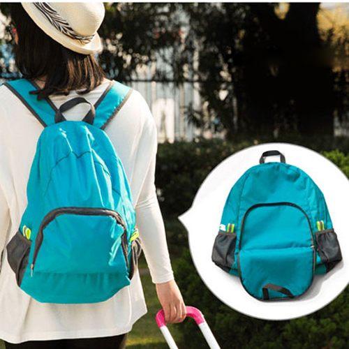 PS Mall╭*旅行必備可折疊雙肩包 多功能旅行包 背包折疊式背包輕便【J1931】