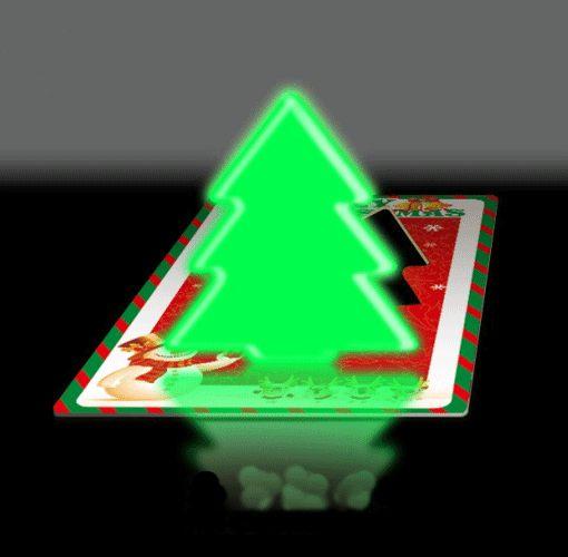PS Mall╭*可愛聖誕樹 彩色卡片燈名片燈小應急燈聖誕樹LED小夜燈【J1481】