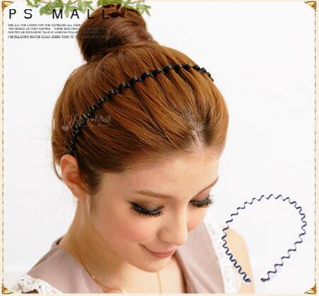PS Mall╭*時尚波浪髮箍 髮飾髮圈日韓歐美時尚最愛 鐵髮箍【H018】