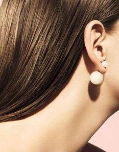 PS Mall╭*韓國時尚雙面超大珍珠耳釘(雙面都可佩戴) 【G1343】