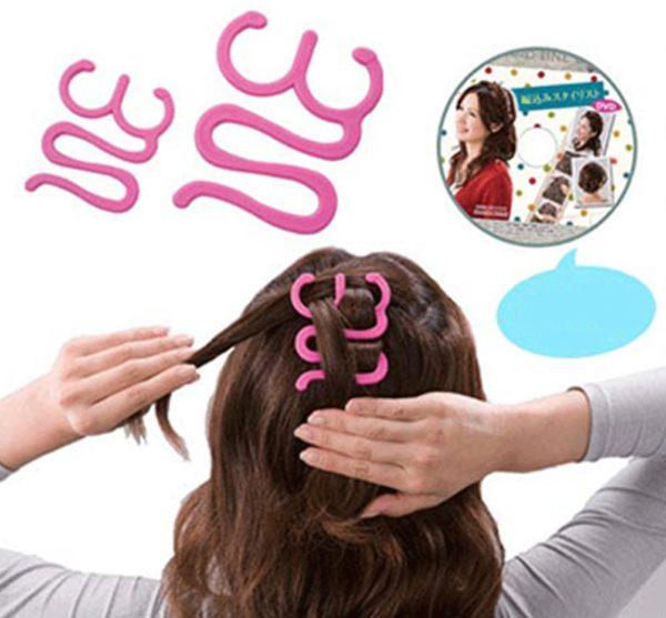 PS Mall╭*時尚美髮器 編髮器 波浪型盤發器盤髮器(小號)【H170】