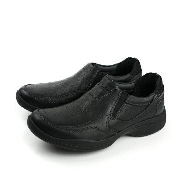 Clarks Wavekorey Free 皮革 舒適 氣墊 抗震 紳士 戶外休閒鞋 黑 男款 no704