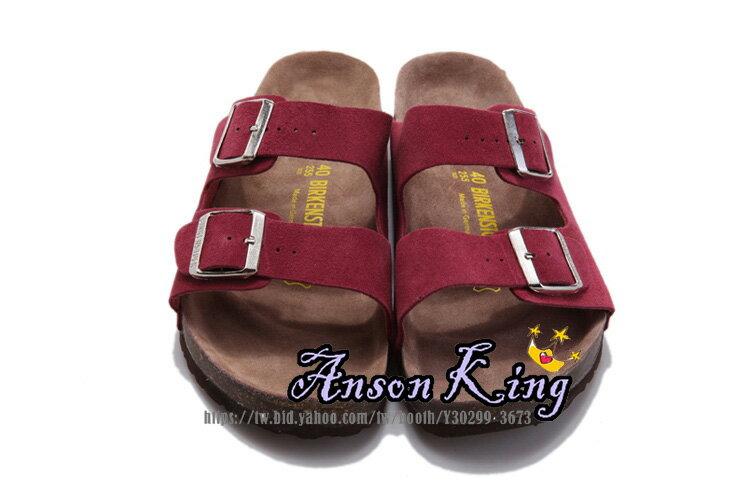 [Anson King]Outlet正品代購  birkenstock Arizona系列 男女款 懶人涼拖鞋 酒紅 0