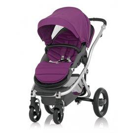 *babygo*英國Britax-Affinity四輪雙向嬰兒手推車【紫色】BX00370(銀管)