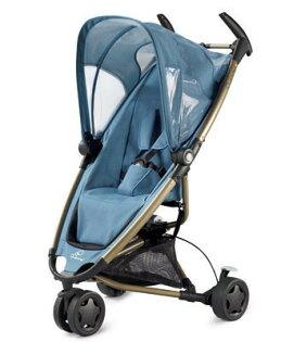 *babygo*Quinny Zapp動力超強的旅行三輪車(藍色)+贈Maxi-Cosi提籃(隨機色)