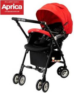 *babygo*Aprica自動定位導向型嬰幼兒手推車SORARIA Auto四輪719RD【紅色】