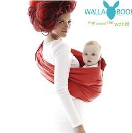 *babygo* 荷蘭 wallaboo Sling 酷媽袋鼠背巾-紅色
