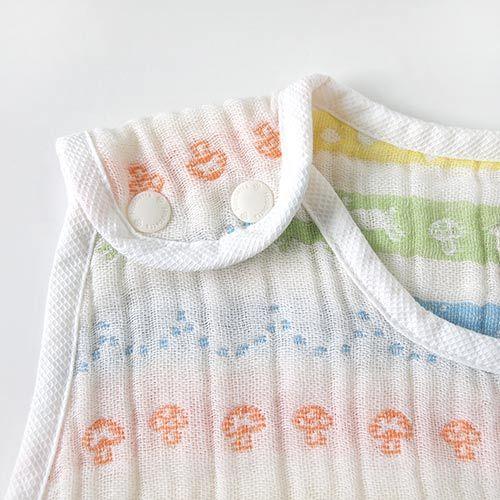 【安琪兒】日本【Hoppetta】彩虹蘑菇四層紗防踢背心(幼童) 2