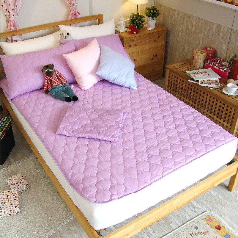 保潔墊平鋪式 3層抗污、加厚鋪棉、台灣製造 #寢國寢城 #馬卡龍 #素色 5
