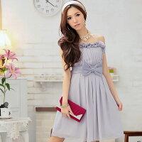 時尚洋裝 小禮服推薦到灰姑娘[2296-S]甜美美胸立體蝴蝶結優雅派對小禮服