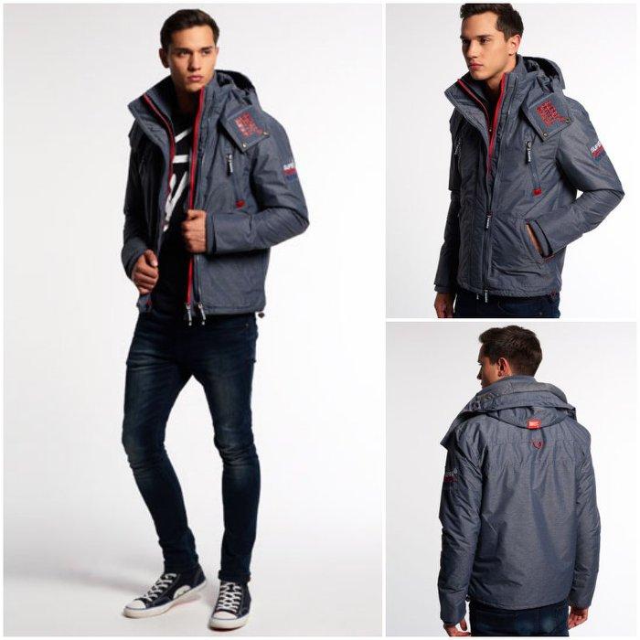 [男款]英國代購 極度乾燥 Superdry Arctic Wind Yachter 男士風衣戶外休閒外套 防水防風 深灰色 1