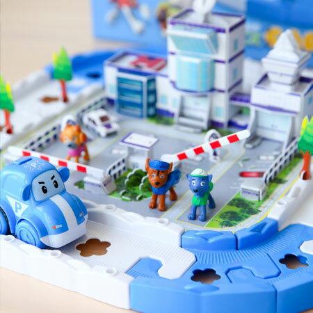 Paw patrol 小小巡邏隊 場景巡邏車遊戲組 巡邏車 軌道車 DIY場景 親子遊戲 桌遊 玩具【B061451】