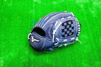 棒球世界 Mizuno美津濃少年用豬皮手套特價 中低年級兒童用 投手 深藍配色