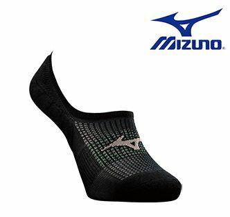 美津濃 MIZUNO 超合腳男路跑襪 J2TX668097(黑X灰)  [陽光樂活]