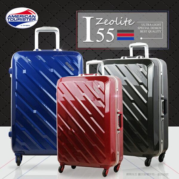 《熊熊先生》下殺7折!! Samsonite行李箱28吋輕量化鋁框新秀麗American Tourister旅行箱拉桿箱I55