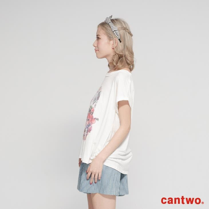 cantwo糖果色花朵女孩短袖T(共三色) 2