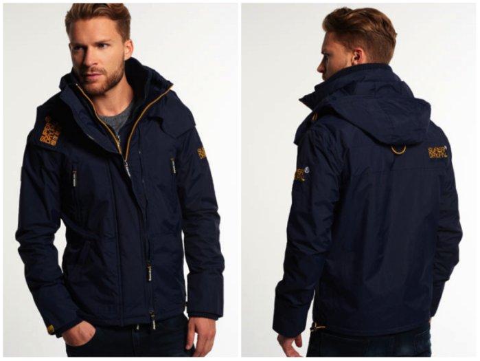 [男款]英國名品代購 極度乾燥 Superdry Arctic Wind Attacke 男士防水防風戶外休閒外套夾克風衣 深藍 2