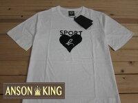 agnès b.到[Anson king]outlet國外代購 agnes b.sport b 絨布愛心 短袖 圓領 男款 T恤 白