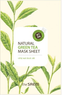 韓國the SAEM Natural 美顏綠茶面膜 21ml Natural Green Tea Mask Sheet (New)【辰湘國際】