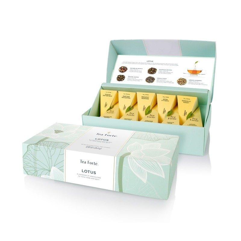 Tea Forte 10入金字塔絲質茶包 - 靜心蓮語 Lotus Petite Presentation Box 0