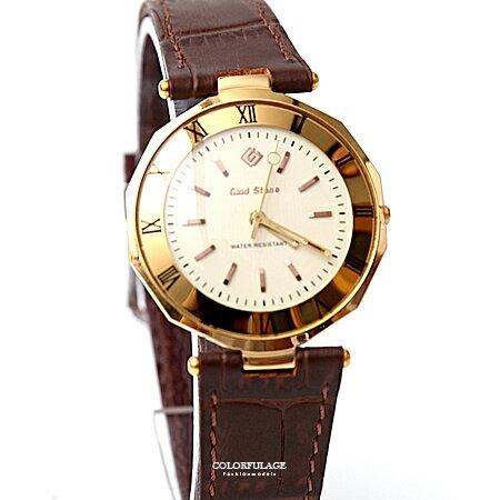 手錶 金色羅馬數字皮革腕錶 柒彩年代【NE1920】單支 - 限時優惠好康折扣