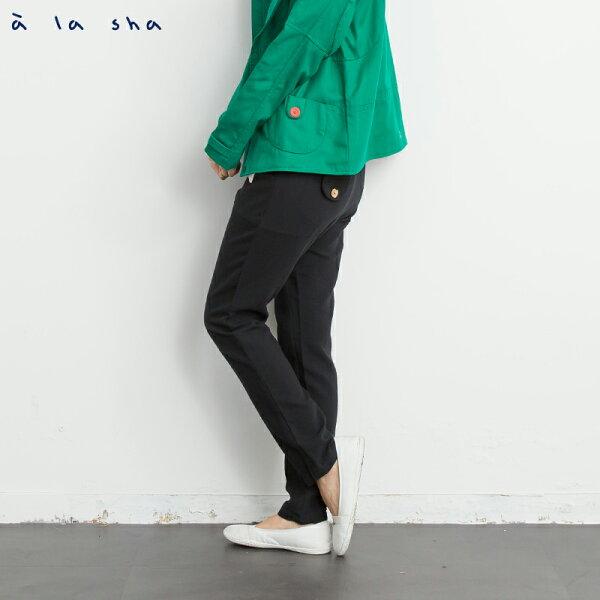 a la sha Qummi 輕斜紋低檔寬鬆褲