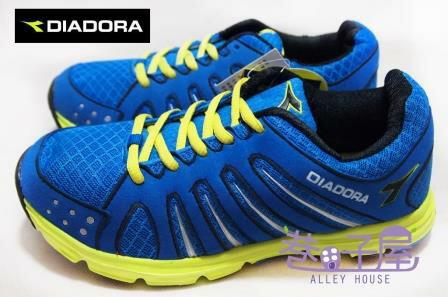 【巷子屋】義大利國寶鞋-DIADORA迪亞多納 男大童寬楦超輕量運動跑鞋 [9116] 藍 189g 超值價$498