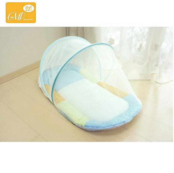 【安琪兒】【GMP BABY】寶寶專用蚊帳睡墊-粉/藍 1