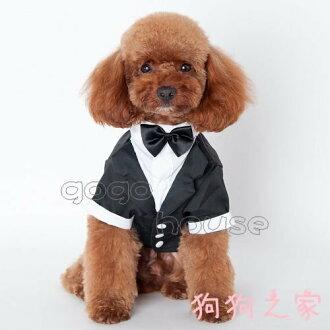 ☆狗狗之家☆寵物 結婚 紳士 西裝 狗西裝 燕尾服~附領結