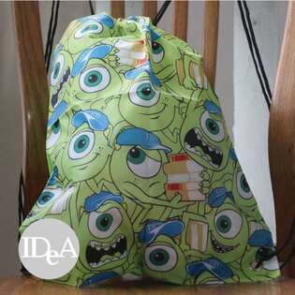 迪士尼 MU 怪獸大學大眼仔雙肩束口後背包 尼龍繩 運動 游泳 球 衣 裝 具 鞋 練習袋 training bag DISNEY