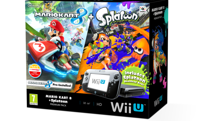 Nintendo Wii U Premium Pack Mario Kart 8, Splatoon DLC 0