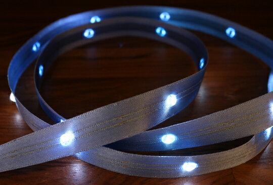 LiTex LED寬版緞帶15mm-白燈系列-中間燈(12色緞帶可選擇) 9