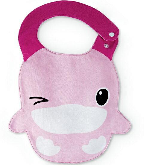 【全系列滿$500送夜燈玩具】台灣【Kuku 酷咕鴨】眨眨眼造型圍兜-2色 0