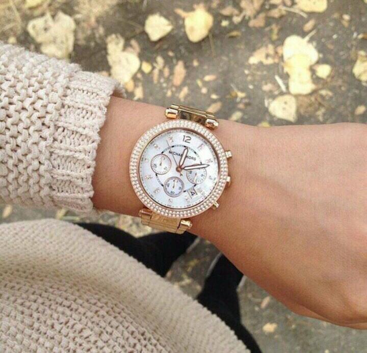 【限時8折 全店滿5000再9折】MichaelKors MK 玫瑰金鑲鑽 三環計時手錶腕錶 MK5491 美國Outlet 正品代購 8