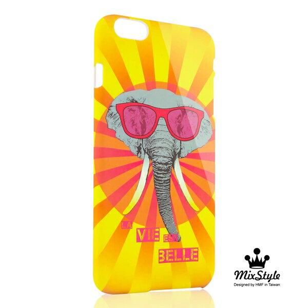【限量19折】iphone 6 手機殼 PLUS 5.5吋手機殼 熱情酷大象印花系列☆Olga_Angelloz設計款☆【II017_I6P】