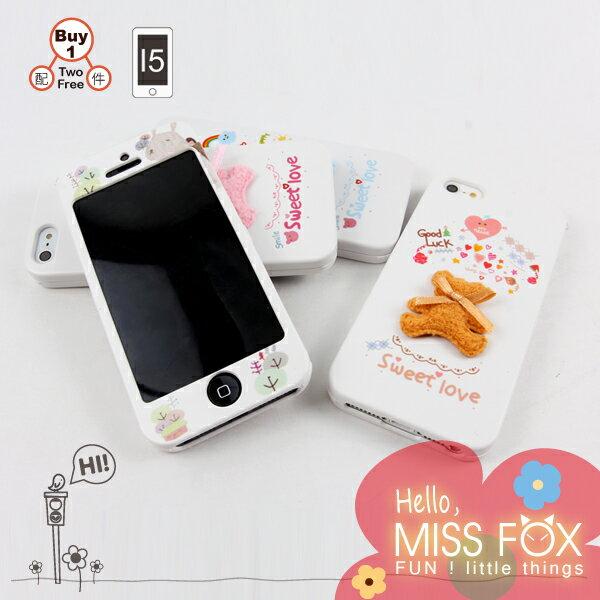 【限量19折】iPhone5S/5 韓國mori三件套 童話手機殼☆Hello!Miss Fox☆【II0220108_64】