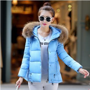 【鳶尾紫服飾館】韓版甜美羽絨棉服外套 冬裝寬鬆連帽大衣 現貨