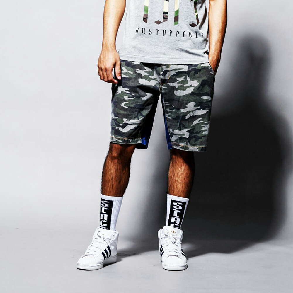 STAGE REMAKER CAMO SHORTS 軍綠色 0